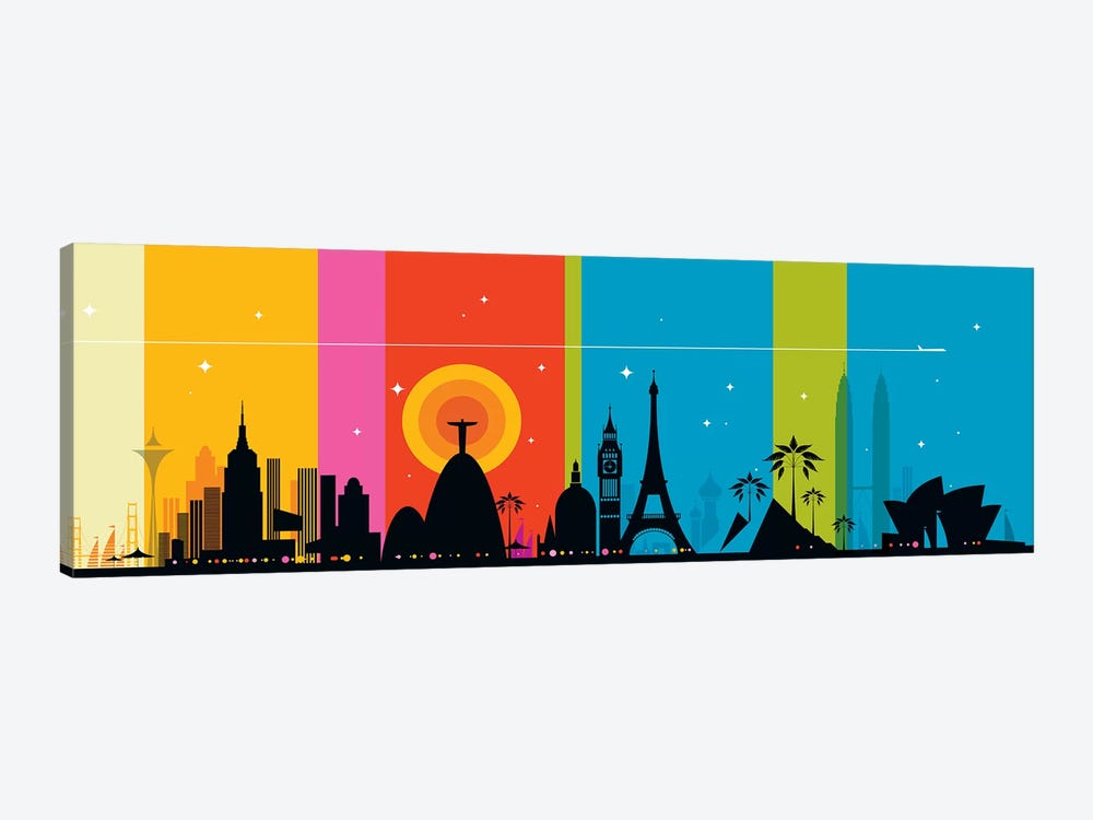 World Icons by Bo Lundberg 1-piece Canvas Art Print