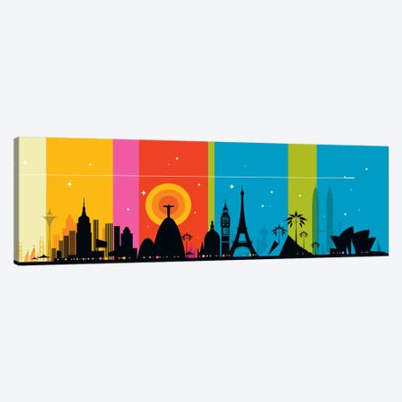 World Icons Canvas Print #UND60} by Bo Lundberg Canvas Art