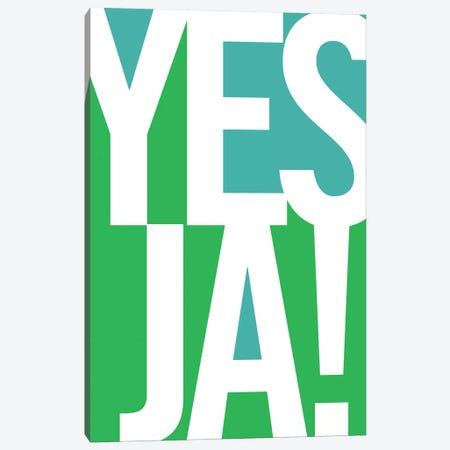 Yes, Ja Canvas Print #UND61} by Bo Lundberg Canvas Art