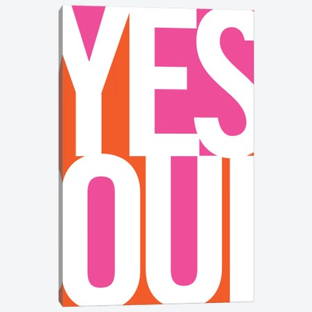 Yes, Oui Canvas Print #UND62} by Bo Lundberg Canvas Artwork