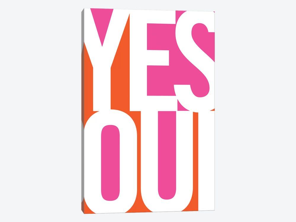 Yes, Oui by Bo Lundberg 1-piece Canvas Print