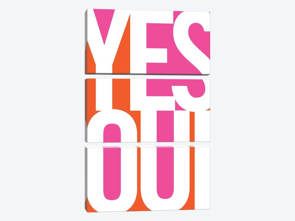 Yes, Oui by Bo Lundberg 3-piece Canvas Art Print