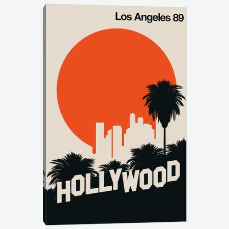 Los Angeles 89 Canvas Print #UND63} by Bo Lundberg Canvas Artwork