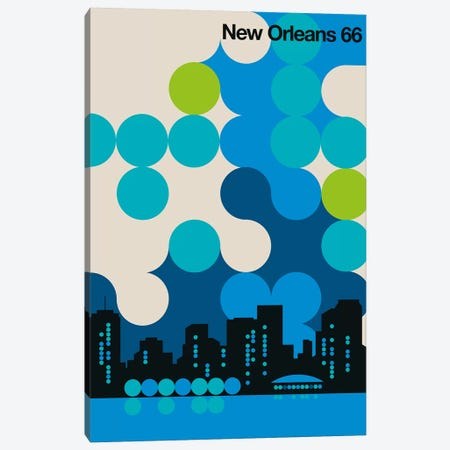 New Orleans 66 Canvas Print #UND64} by Bo Lundberg Art Print