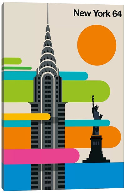 New York 64 Canvas Art Print