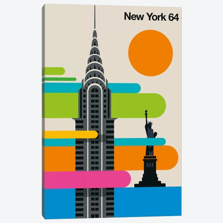 New York 64 Canvas Print #UND65} by Bo Lundberg Canvas Art Print