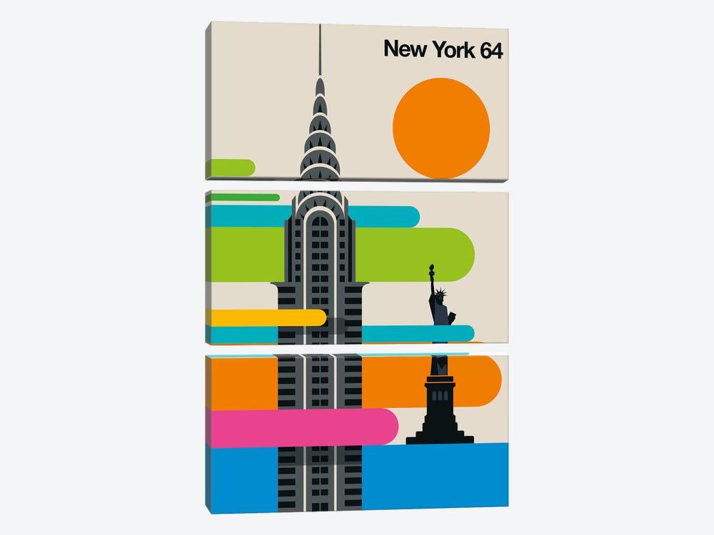 New York 64 by Bo Lundberg 3-piece Canvas Wall Art