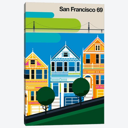 San Francisco 69 Canvas Print #UND67} by Bo Lundberg Art Print