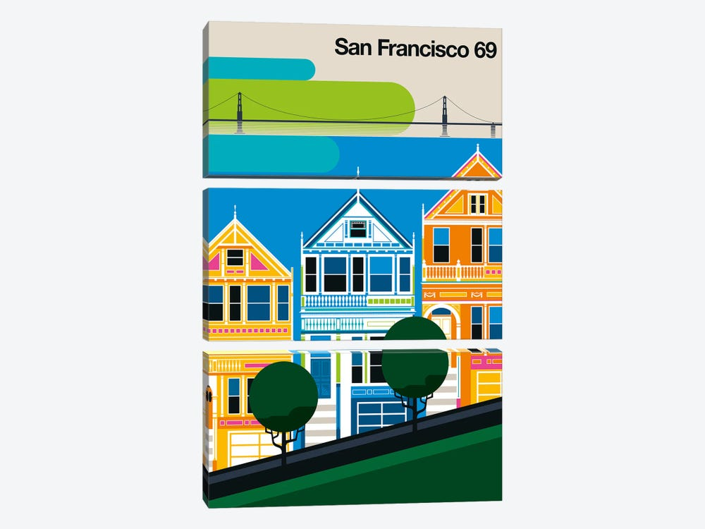 San Francisco 69 by Bo Lundberg 3-piece Canvas Art