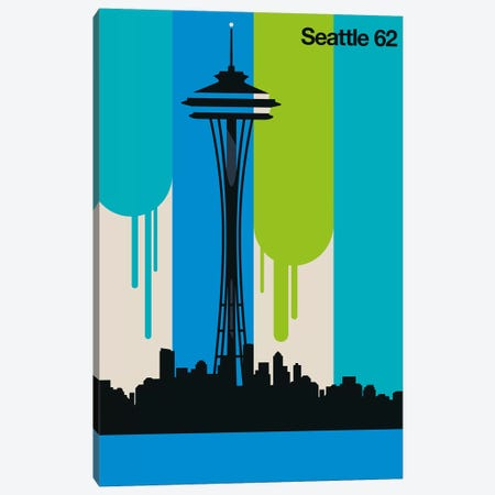 Seattle 62 Canvas Print #UND68} by Bo Lundberg Canvas Wall Art
