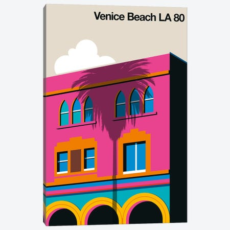 Venice Beach 80 Canvas Print #UND70} by Bo Lundberg Art Print