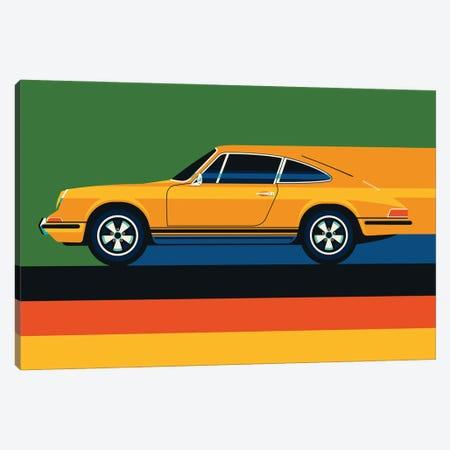 Whole Orange Vintage Sports Car Canvas Print #UND75} by Bo Lundberg Canvas Wall Art