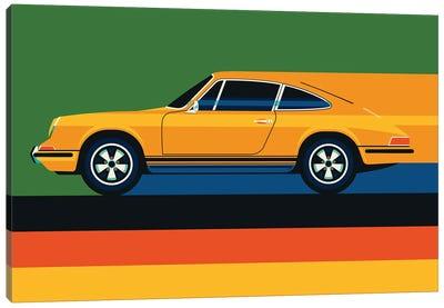 Whole Orange Vintage Sports Car Canvas Art Print