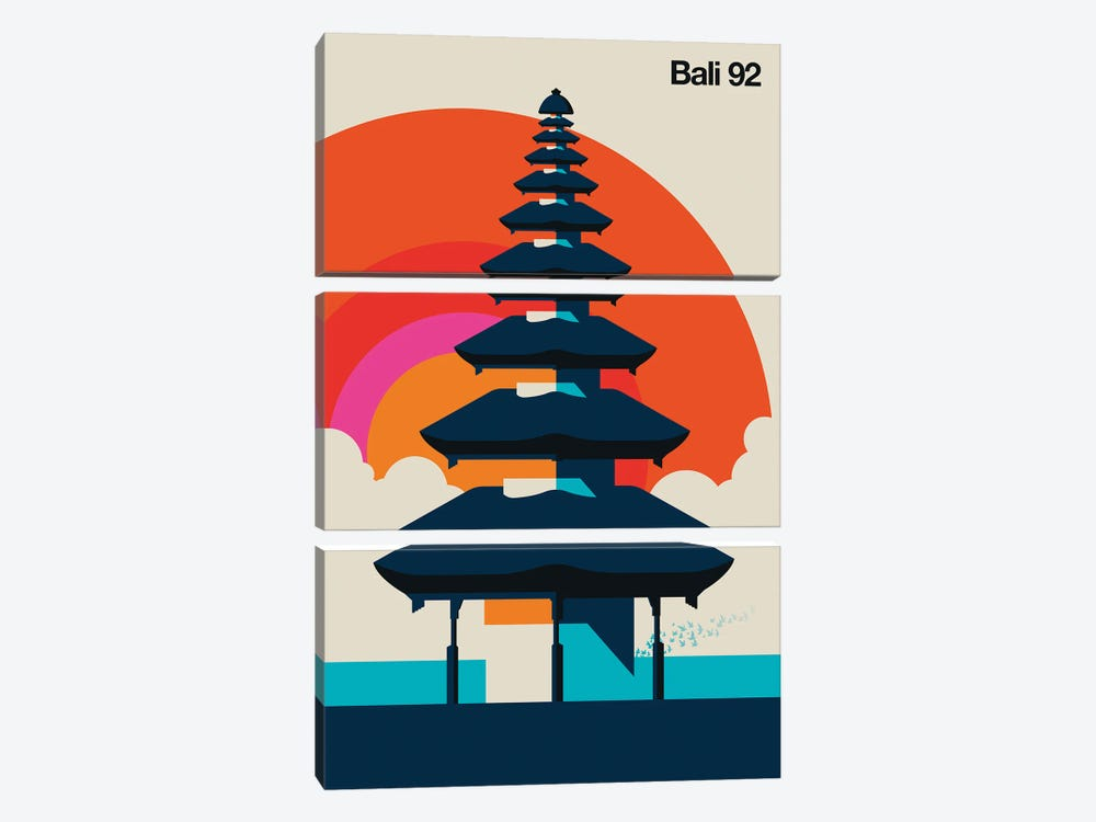 Bali 92 by Bo Lundberg 3-piece Canvas Print