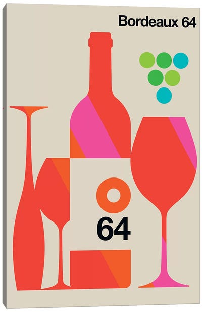 Bordeaux 64 Canvas Art Print