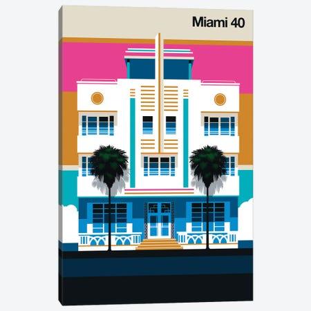 Miami 40 Canvas Print #UND91} by Bo Lundberg Art Print