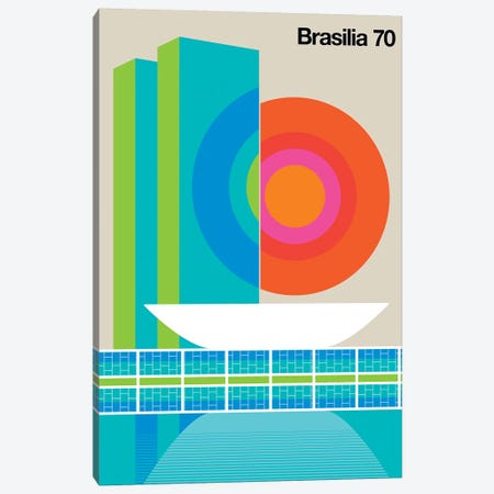 Brasilia 70 Canvas Print #UND9} by Bo Lundberg Canvas Artwork