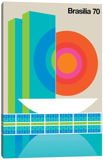 Brasilia 70 Canvas Art Print