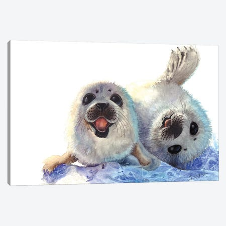 Seal Cubs Canvas Print #UNI13} by Sunima Canvas Art