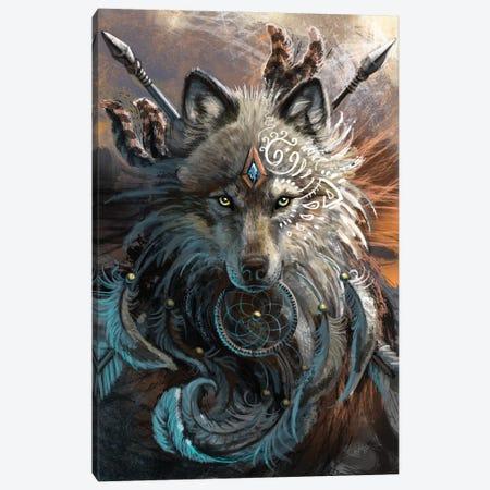 Wolf Warrior Canvas Print #UNI20} by Sunima Canvas Art Print