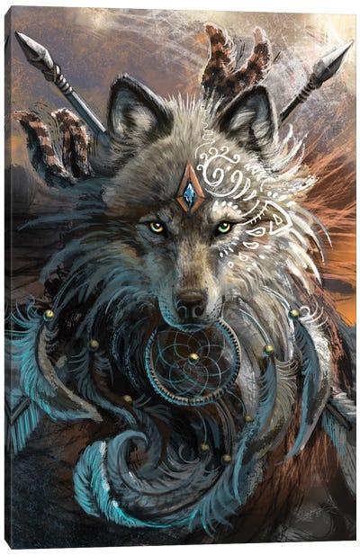 Wolf Warrior Canvas Art Print