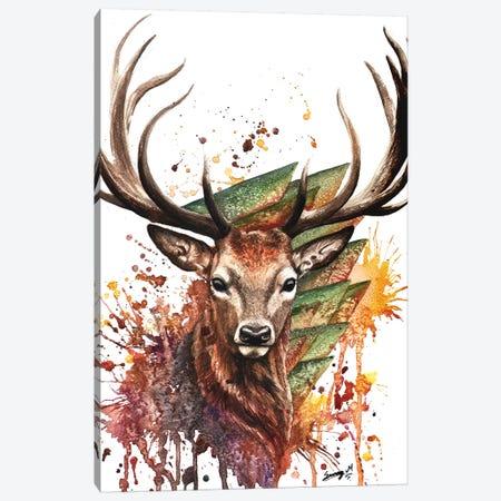 Young Deer Canvas Print #UNI21} by Sunima Art Print