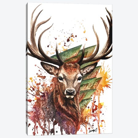 Young Deer Canvas Print #UNI21} by Sunima Art Print