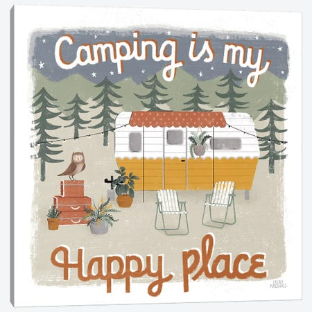 Gone Glamping V Canvas Print #URA102} by Laura Marshall Art Print