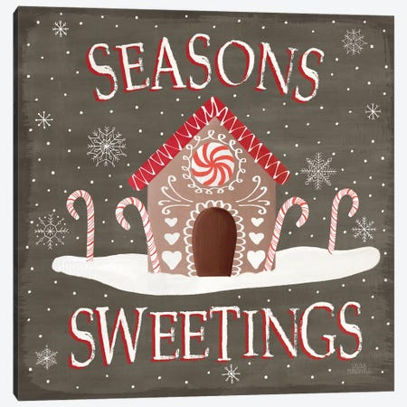 Christmas Cheer VII Seasons Sweetings Canvas Print #URA109} by Laura Marshall Canvas Art Print