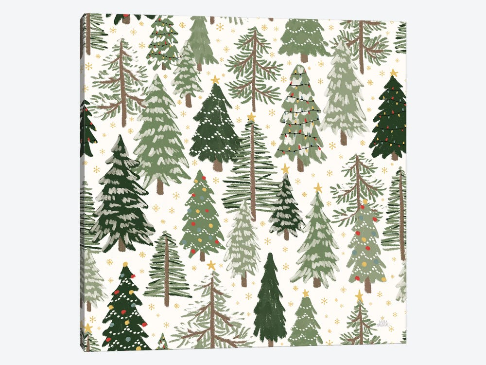 Christmas Village Pattern XII by Laura Marshall 1-piece Art Print
