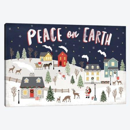 Christmas Village II Canvas Print #URA113} by Laura Marshall Canvas Wall Art