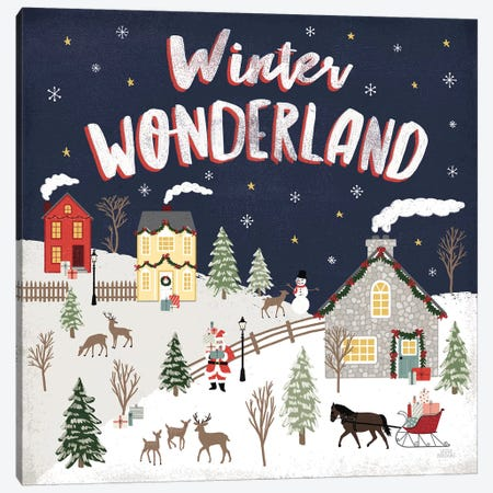 Christmas Village III Canvas Print #URA114} by Laura Marshall Canvas Print