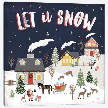 Christmas Village IV Canvas Print #URA115} by Laura Marshall Canvas Print