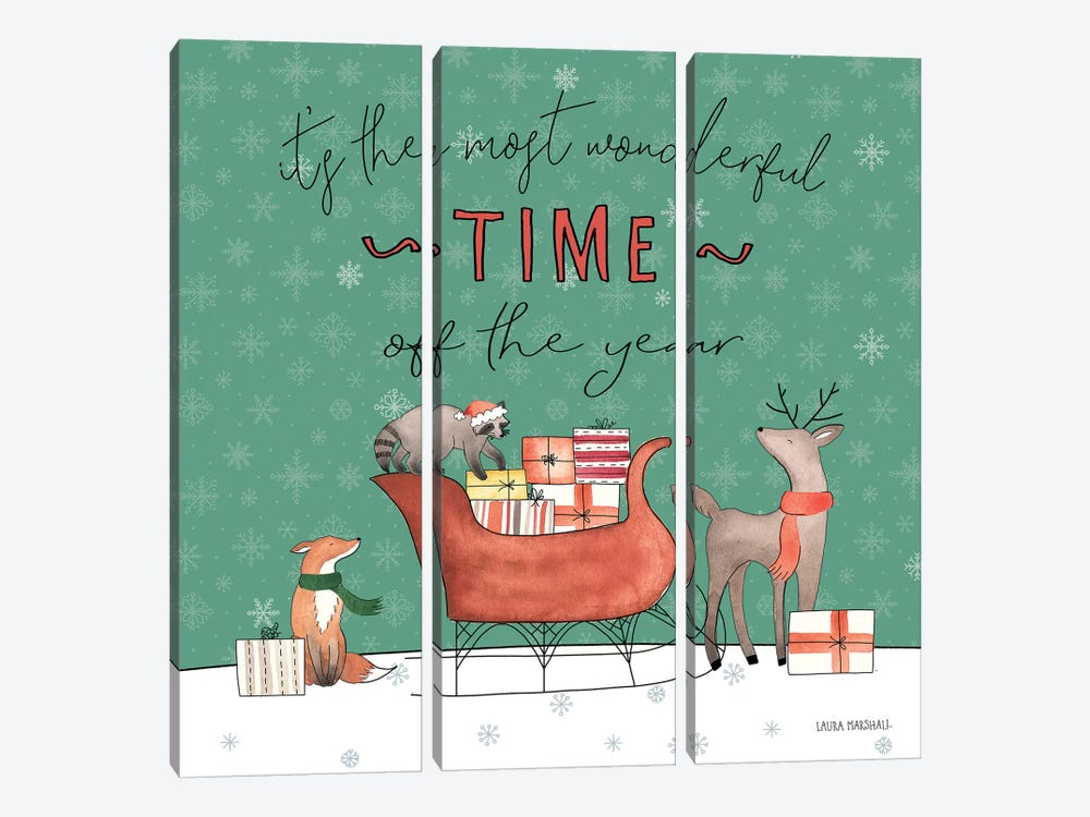 December 25th III by Laura Marshall 3-piece Canvas Wall Art