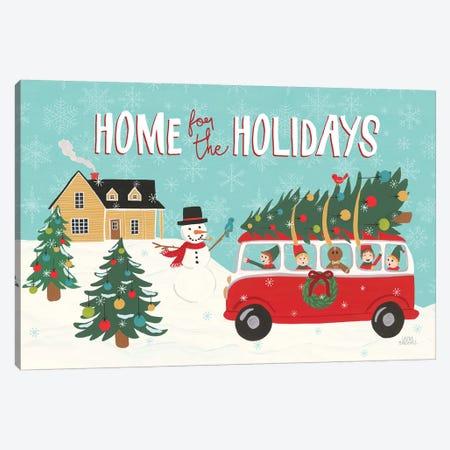 Holiday Travelers I Canvas Print #URA120} by Laura Marshall Canvas Print
