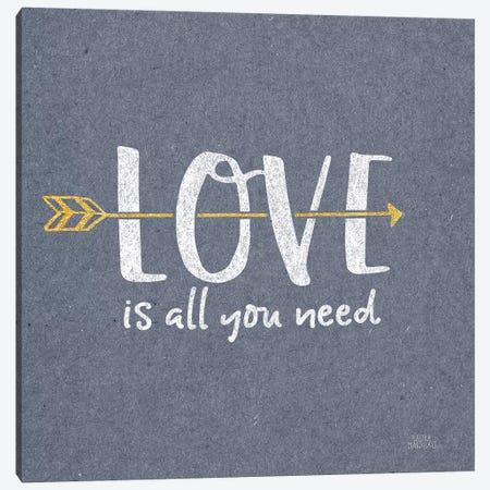 Lovestruck V Sq Canvas Print #URA138} by Laura Marshall Canvas Wall Art
