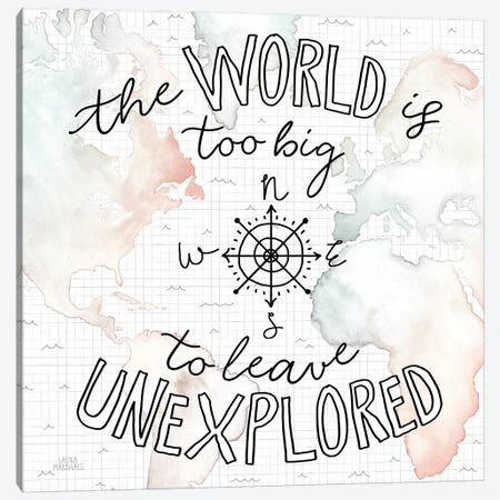 World Traveler II Canvas Print #URA13} by Laura Marshall Art Print