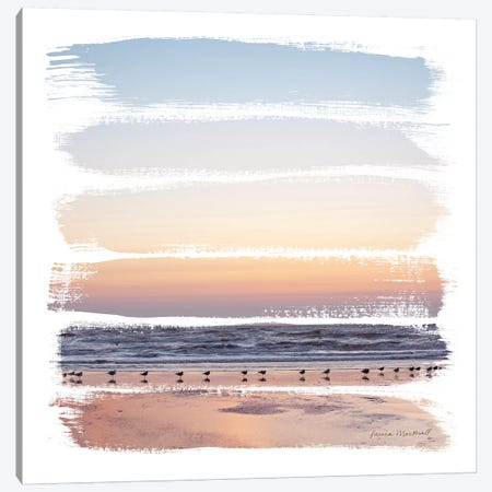 Sunset Stripes I 3-Piece Canvas #URA143} by Laura Marshall Canvas Print