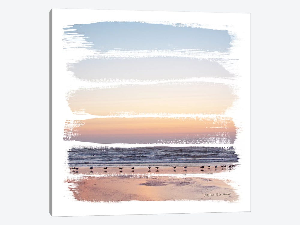 Sunset Stripes I by Laura Marshall 1-piece Canvas Art