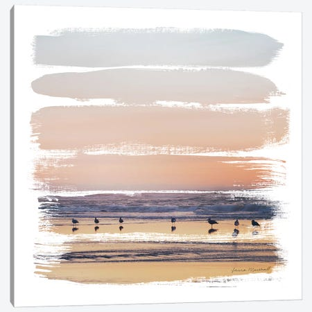 Sunset Stripes II 3-Piece Canvas #URA144} by Laura Marshall Canvas Wall Art
