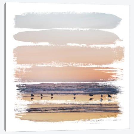Sunset Stripes II Canvas Print #URA144} by Laura Marshall Canvas Wall Art