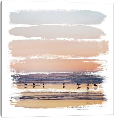 Sunset Stripes II Canvas Art Print