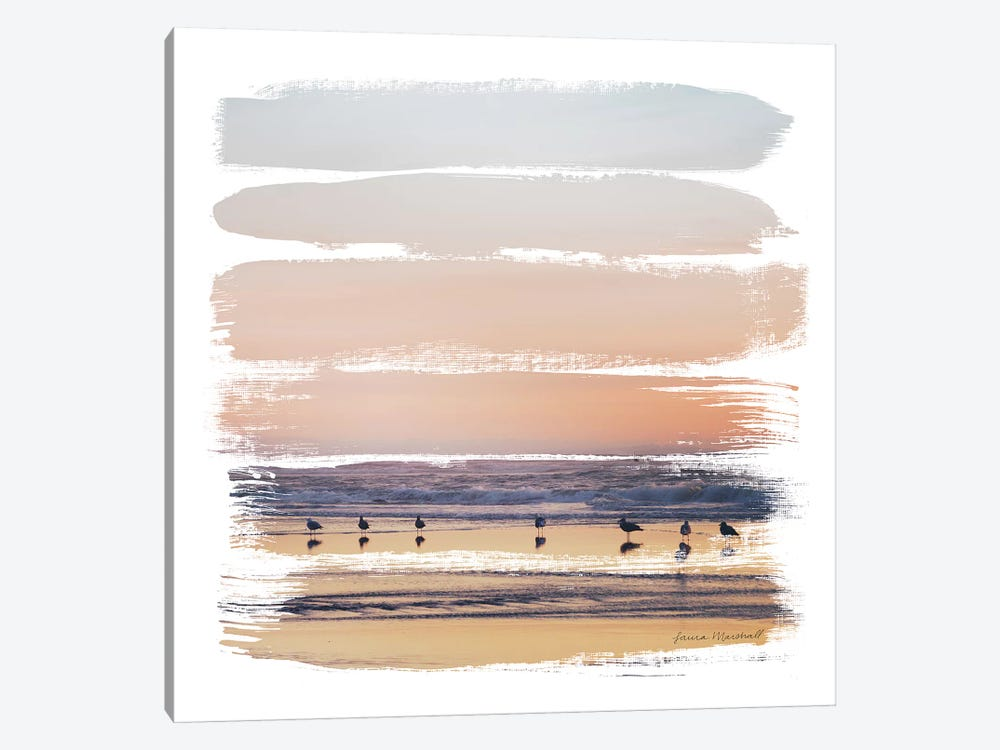 Sunset Stripes II by Laura Marshall 1-piece Canvas Art Print