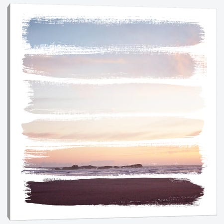 Sunset Stripes III 3-Piece Canvas #URA145} by Laura Marshall Canvas Wall Art
