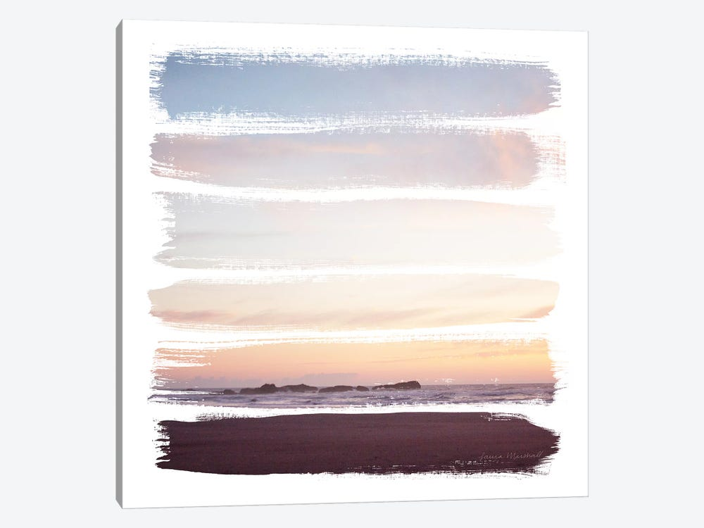 Sunset Stripes III by Laura Marshall 1-piece Canvas Artwork