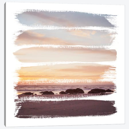 Sunset Stripes IV Canvas Print #URA146} by Laura Marshall Canvas Artwork