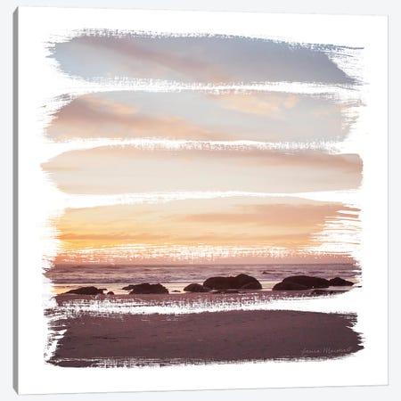 Sunset Stripes IV Canvas Print #URA146} by Laura Marshall Canvas Artwork