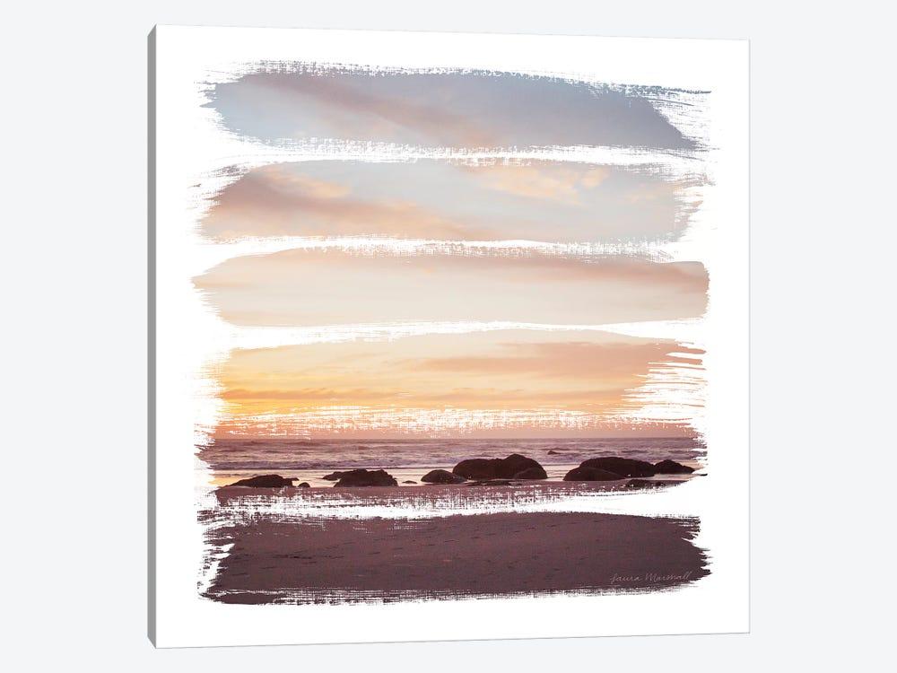 Sunset Stripes IV by Laura Marshall 1-piece Canvas Art Print
