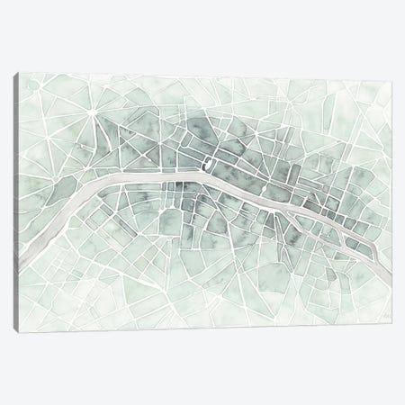 Watercolor Wanderlust Paris Mint Canvas Print #URA151} by Laura Marshall Canvas Wall Art