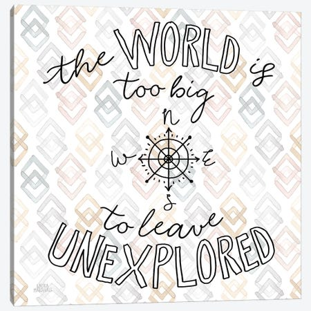 World Traveler II Diamond 3-Piece Canvas #URA153} by Laura Marshall Canvas Art